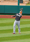 1 April 2013: Miami Marlins outfielder Chris Coghlan in action during the Opening Day Game against the Washington Nationals at Nationals Park in Washington, DC. The Nationals shut out the Marlins 2-0 to launch the 2013 season. Mandatory Credit: Ed Wolfstein Photo *** RAW (NEF) Image File Available ***