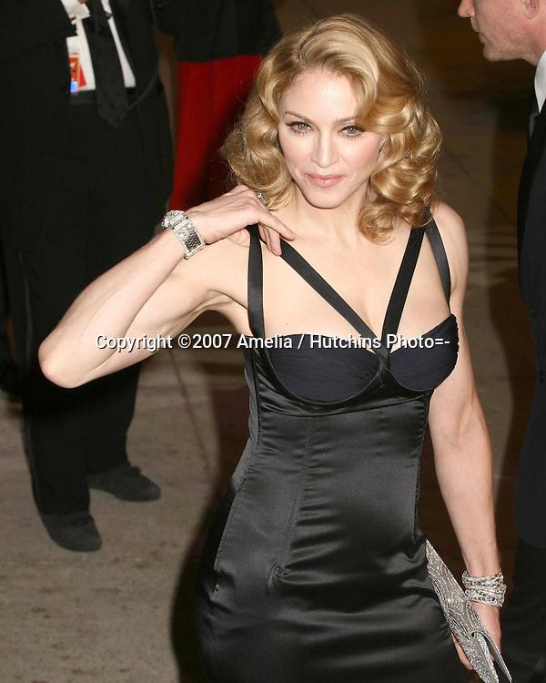 Madonna.79th Academy Awards, 2007.Kodak Theater.Los Angeles, CA.February 25, 2007.©2007 Amelia / Hutchins Photo....                 Madonna.2007 Vanity Fair Oscar Party.Mortons Resturant.W Hollywood, CA.February 25, 2007.©2007 Amelia / Hutchins Photo....