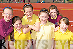 Running at the Castleisland Area Primary Schools athletics in Castleisland on Tuesday was l-r: Michaela O'Brien, Moya Sheehan, Ellen Sheehan, Elizabeth O'Connor, Roisin Beazley and Anna Lynch Castleisland Presentation