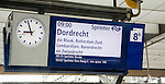 Platform electronic display for Intercity train departure to Dordrecht, Rotterdam Central railway station, Netherlands