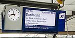 Platform electronic display for Intercity train departure to Dordrecht, Rotterdam Central railway station, Netherlands