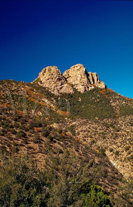 The East side of the Dos Cabezas peaks. Arizona.