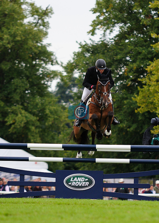 3rd September 2017. Harry Dzenis (GBR) riding Dromgurrihy Blue during the Show Jumping Phase of the 2017 Land Rover Burghley Horse Trials, Stamford, United Kingdom. Jonathan Clarke/JPC Images