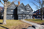 Salem Witch House in Salem, Massachusetts USA which is part of New England