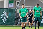 04.07.2019, Parkstadion, Zell am Ziller, AUT, TL Werder Bremen - Tag 00<br /> <br /> im Bild / picture shows 1. Training im TL Zillertal am Mittwoch abend<br /> <br /> Milot Rashica (Werder Bremen #07)<br /> Jiri Pavlenka (Werder Bremen #01)<br /> <br /> Foto © nordphoto / Kokenge