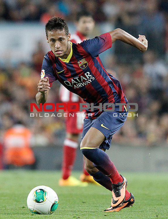 FC Barcelona's Neymar Santos Jr during Supercup of Spain 2nd match.August 28,2013. Foto © nph / Acero)