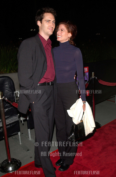 Actress DEBRA MESSING & husband at Barbra Streisand's final Los Angeles concert at the Staples Center.