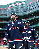 Justin Howell (UConn - 22), Johnny Austin (UConn - 6) - The University of Maine Black Bears defeated the University of Connecticut Huskies 4-0 at Fenway Park on Saturday, January 14, 2017, in Boston, Massachusetts.