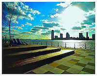 NEW YORK, NY - MARCH 24: Pier at North Moore Street looking at the Hudson River at in the West Village of New York, New York on March 24, 2011. Photo Credit: Thomas R. Pryor