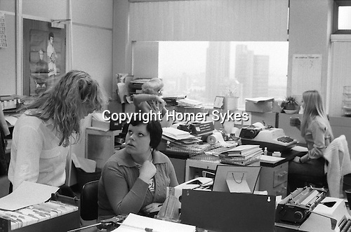 Women working in a Typing Pool the City of London 1978.
