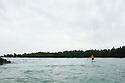 Hauoli Reeves on his Canoe at Carvalho Bay in Hawaii.