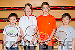 Jack O'Keeffe Firies, Madison Carter Listowel, Christopher O'Donoghue Ballylongford and Conor O'Keeffe Firies who competed in the Badminton championships in Killarney Sports Centre on Saturday