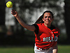 Julia DeVincenzo #2, Island Trees shortstop, throws to first base for an out in the bottom of the second inning of a Nassau County Class A first round playoff game against host Mepham High School on Friday, May 11, 2018.