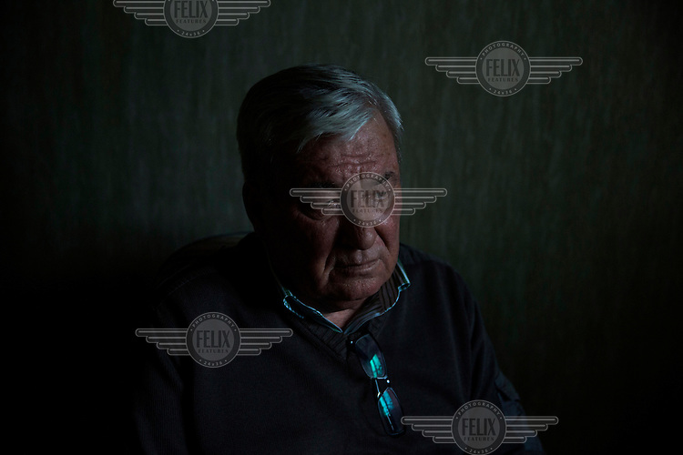 Arthur Korneyev at home in Slavutich. He was a power plant worker when the Chernobyl nuclear reactor accident occured in 1986 and knows a lot about the damaged units inside the exclusion zone.