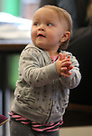 Chloe Machado, 1, dances at Storytime at the Carson City Library on Thursday, Dec. 13, 2012. .Photo by Cathleen Allison