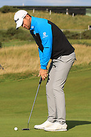 Bernd Wiesberger (AUT) on the 16th green during Round 3 of the Alfred Dunhill Links Championship 2019 at St. Andrews Golf CLub, Fife, Scotland. 28/09/2019.<br /> Picture Thos Caffrey / Golffile.ie<br /> <br /> All photo usage must carry mandatory copyright credit (© Golffile | Thos Caffrey)