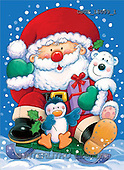 Stephen, CHRISTMAS SANTA, SNOWMAN, paintings, santa, penguin, bear(GBUK15059/1,#X#)