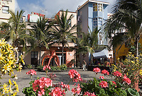 Spain, Canary Islands, La Palma, Puerto de Tazacorte: resort with black sandy beach, seaside promenade