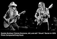 "Doobie Brothers' Patrick Simmons and Jeff ""Shunk"" Baxter. Photo/Craig Houtz"