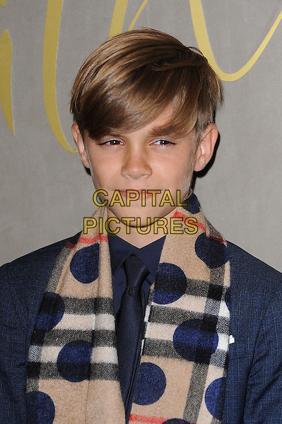 LONDON, ENGLAND - NOVEMBER 3: Romeo Beckham attends the Burberry Festive Film Premiere at Burberry Regent Street on November 3, 2015 in London, England.<br /> CAP/BEL<br /> &copy;BEL/Capital Pictures