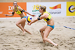 05.01.2019, Den Haag, Sportcampus Zuiderpark<br />Beachvolleyball, FIVB World Tour, 2019 DELA Beach Open<br /><br />Sandra Ittlinger (#2 GER), Annahme Kim Behrens (#1 GER)<br /><br />  Foto &copy; nordphoto / Kurth