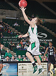 North Texas Mean Green guard Barbara-Scott Kolb (10) in action during the game between the Troy Trojans and the University of North Texas Mean Green at the North Texas Coliseum,the Super Pit, in Denton, Texas. UNT defeats Troy 57 to 36.....