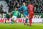 01.12.2018, Weserstadion, Bremen, GER, 1.FBL, Werder Bremen vs FC Bayern Muenchen<br /> <br /> DFL REGULATIONS PROHIBIT ANY USE OF PHOTOGRAPHS AS IMAGE SEQUENCES AND/OR QUASI-VIDEO.<br /> <br /> im Bild / picture shows<br /> Jubel zum 1:1 Ausgleich, Yuya Osako (Werder Bremen #08) bejubelt seinen Treffer zum 1:1 gegen Manuel Neuer (FC Bayern Muenchen #01), Jerome / J&eacute;r&ocirc;me Boateng (FC Bayern Muenchen #17), <br /> <br /> Foto &copy; nordphoto / Ewert