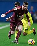 Villarreal CF's Rodrigo Hernandez (r) and FC Barcelona's Leo Messi during La Liga match. December 10,2017. (ALTERPHOTOS/Acero)
