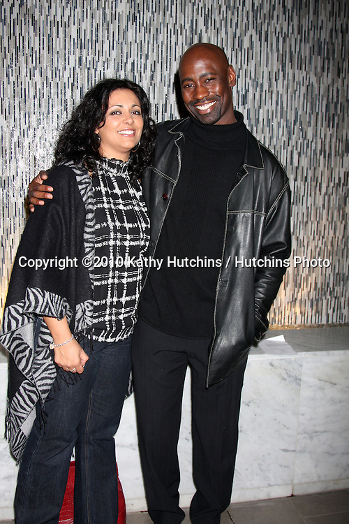 Phill HDB Woodside & Guest.attending The Julep Ball Kentucky Derby Prelude Party .The London West Hollywood Hotel Rooftop .Los Angeles, CA.January 14, 2010.©2010 Kathy Hutchins / Hutchins Photo....