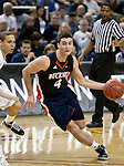 March 18, 2012:   Bucknell Bison guard Bryan Cohen drives against the Nevada Wolf Pack defense during their NIT second round game played at Lawlor Events Center on Sunday afternoon in Reno, Nevada.