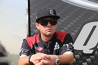 May 11, 2013; Commerce, GA, USA: NHRA top fuel dragster driver Steve Torrence during the Southern Nationals at Atlanta Dragway. Mandatory Credit: Mark J. Rebilas-