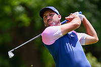 Sergio Garcia (ESP) watches his tee shot on 4 during round 2 of the Dean &amp; Deluca Invitational, at The Colonial, Ft. Worth, Texas, USA. 5/26/2017.<br /> Picture: Golffile | Ken Murray<br /> <br /> <br /> All photo usage must carry mandatory copyright credit (&copy; Golffile | Ken Murray)