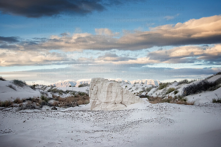 White sands in barren location in America