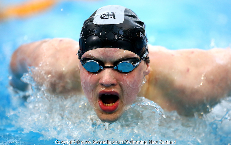 Max Polianski during Session Two of the 2015 New Zealand Short Course Championships, Sir Owen G. Glenn National Aquatic Centre, Auckland, New Zealand, 11 August 2015. Photo: Simon Watts/www.bwmedia.co.nz