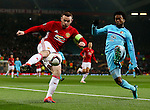Wayne Rooney of Manchester United takes on Miguel Nelom of Feyenoord during the UEFA Europa League match at Old Trafford, Manchester. Picture date: November 24th 2016. Pic Matt McNulty/Sportimage