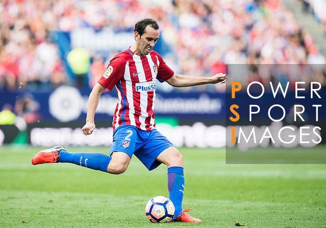 Diego Godín of Atletico Madrid in action during their La Liga match between Atletico Madrid and Deportivo de la Coruna at the Vicente Calderon Stadium on 25 September 2016 in Madrid, Spain. Photo by Diego Gonzalez Souto / Power Sport Images