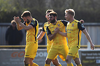 Alex Bentley of Hornchurch celebrates his goalduring Witham Town vs AFC Hornchurch, Bostik League Division 1 North Football at Spa Road on 14th April 2018