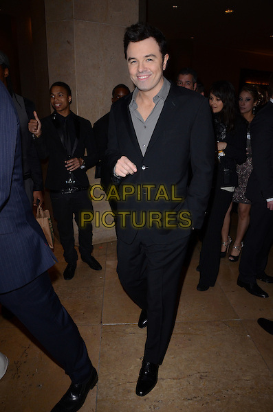 Seth MacFarlane.The Weinstein Company's 2013 Golden Globe After Party held at The Old trader vic's at The Beverly Hilton Hotel in Beverly Hills, California, USA..January 13th, 2013.globes full length black suit grey gray shirt .CAP/ADM/TW.©Tonya Wise/AdMedia/Capital Pictures.