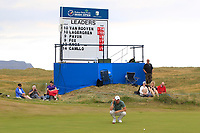 Chris Wood (ENG) on the 16th green during Round 3 of the Dubai Duty Free Irish Open at Ballyliffin Golf Club, Donegal on Saturday 7th July 2018.<br /> Picture:  Thos Caffrey / Golffile