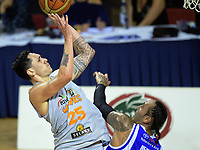 Tony Tolovae in action during the national basketball league match between Wellington Saints and Taylor Hawks at TSB Bank Arena in Wellington, New Zealand on Friday, 17 March 2017. Photo: Dave Lintott / lintottphoto.co.nz