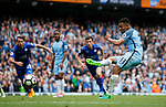 Gabriel Jesus of Manchester City  scores the second goal prom a penalty during the English Premier League match at the Etihad Stadium, Manchester. Picture date: May 13th 2017. Pic credit should read: Simon Bellis/Sportimage
