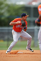 Houston Astros second baseman Alex De Goti (66) during an Instructional League game against the Atlanta Braves on September 26, 2016 at Osceola County Stadium Complex in Kissimmee, Florida.  (Mike Janes/Four Seam Images)
