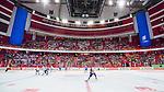 Stockholm 2014-05-03 Ishockey Oddset Hockey Games  Sverige - Finland :  <br /> Vy &ouml;ver hockeyrinken under matchen med publik p&aring; l&auml;ktaren<br /> (Foto: Kenta J&ouml;nsson) Nyckelord:  Oddset Hockey Games Sverige Swe Tre Kronor Finland Fin Globen Ericsson Globe Arena inomhus interi&ouml;r interior
