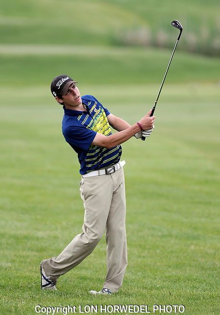 Skyline and Saline High School boy's golf teams in action during MHSAA Regional Meet at Lake Forest Golf Course in Ann Arbor, Wednesday, May 28, 2014.