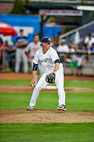 Pioneer League All-Star Nash Walters (33) of the Helena Brewers delivers a pitch to the plate against the Northwest League All-Stars at the 2nd Annual Northwest League-Pioneer League All-Star Game at Lindquist Field on August 2, 2016 in Ogden, Utah. The Northwest League defeated the Pioneer League 11-5. (Stephen Smith/Four Seam Images)