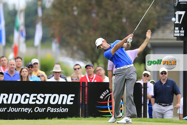 Charl Schwartzel (RSA) tees off the 17th tee during Friday's Round 1 of the 2013 Bridgestone Invitational WGC tournament held at the Firestone Country Club, Akron, Ohio. 2nd August 2013.<br /> Picture: Eoin Clarke www.golffile.ie