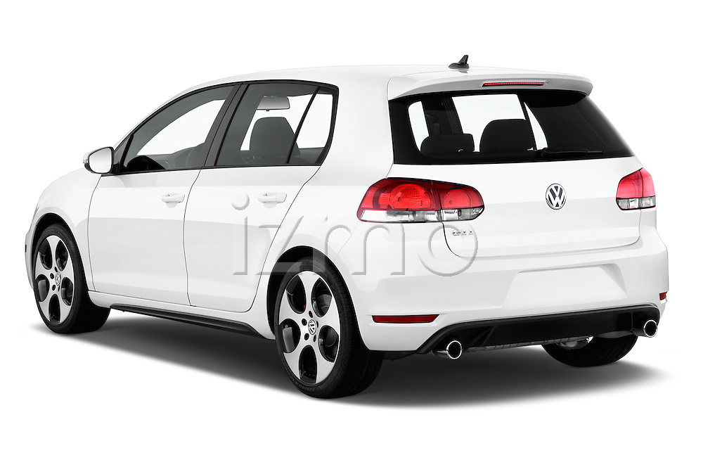 Rear three quarter view of a 2013 Volkswagen GTI 4 Door hatchback2013 Volkswagen GTI 4 Door hatchback