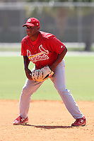 St. Louis Cardinals minor league player Curt Smith during a spring training game vs the New York Mets at the Roger Dean Sports Complex in Jupiter, Florida;  March 24, 2011.  Photo By Mike Janes/Four Seam Images
