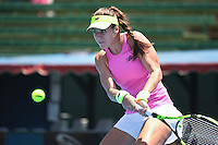 January 10, 2017: Sorana Cirstea (ROM) in action against Destanee Aiava (AUS) on day one of the 2017 Priceline Pharmacy Kooyong Classic tournament at the Kooyong Lawn Tennis Club in Melbourne, Australia. Cirstea won 61 76. Sydney Low/AsteriskImages