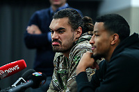 Steven Adams and Andre Roberson Press Conference. <br /> Steven Adams Basketball Camp, Bruce Pullman Arena, Auckland. Monday 28 August 2017. Photo: Simon Watts/www.bwmedia.co.nz